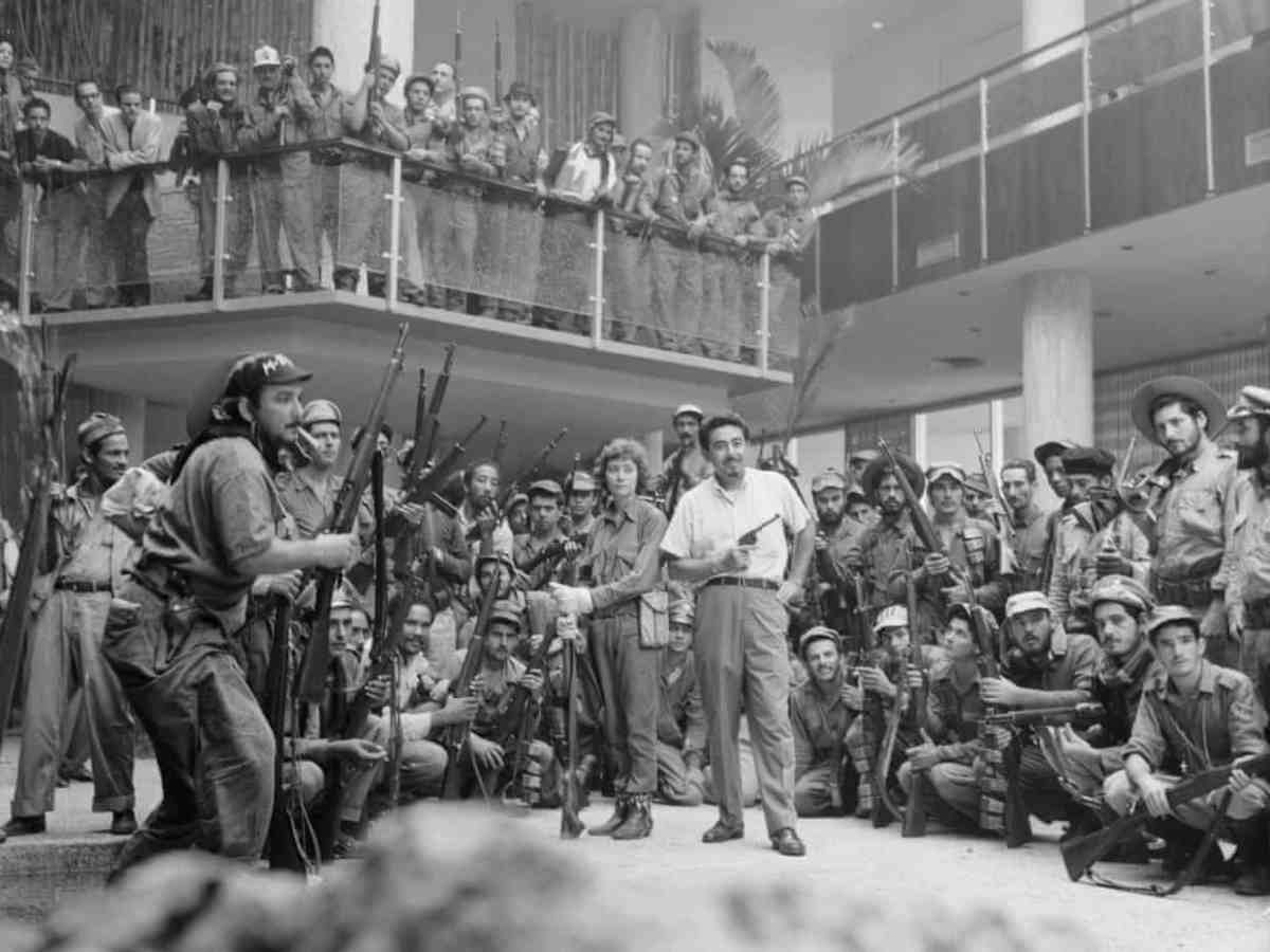 Cuban rebel soldiers in the Habana Hilton foyer, January, 1959